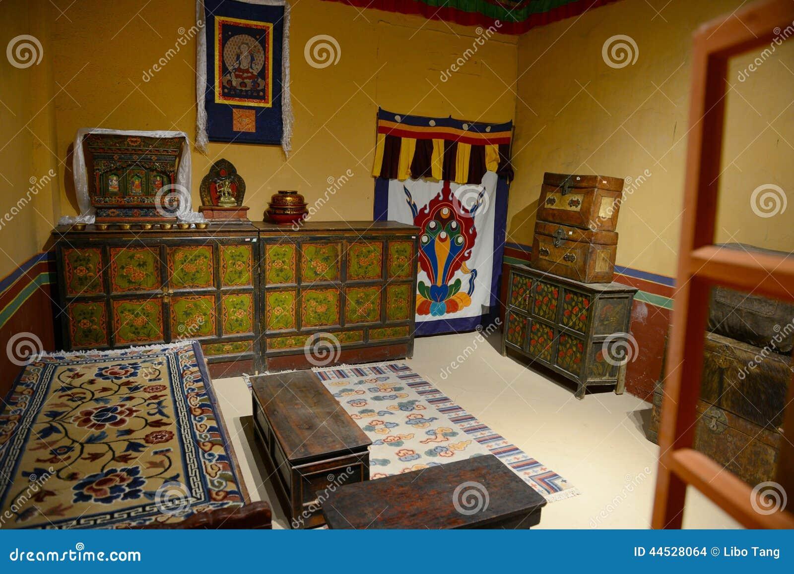 Interno della casa tibetana fotografia stock immagine di for Interno della casa