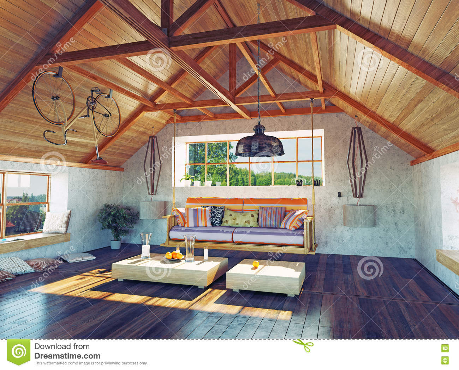 Interno della soffitta