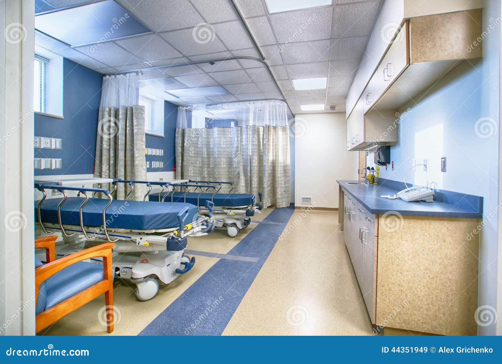 interno della stanza di ospedale vuota fotografia stock