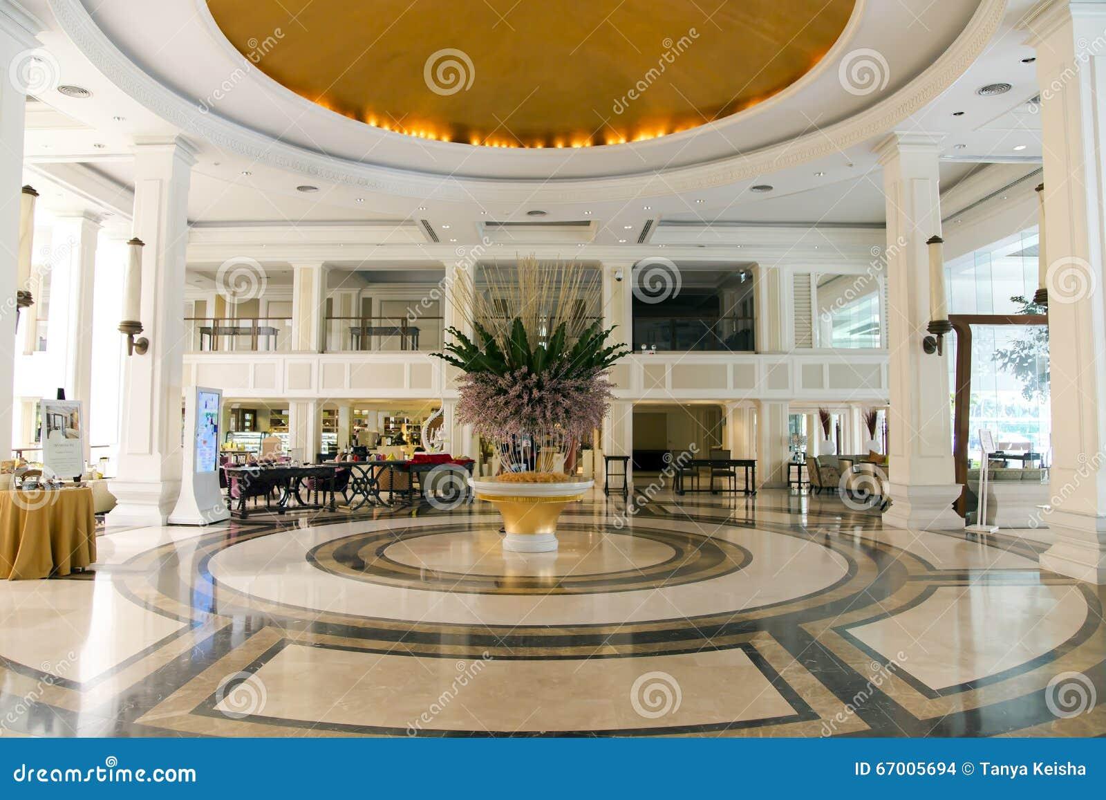 Hotel Di Lusso Interni : Interno di lusso moderno dellingresso in hotel dusit thani immagine