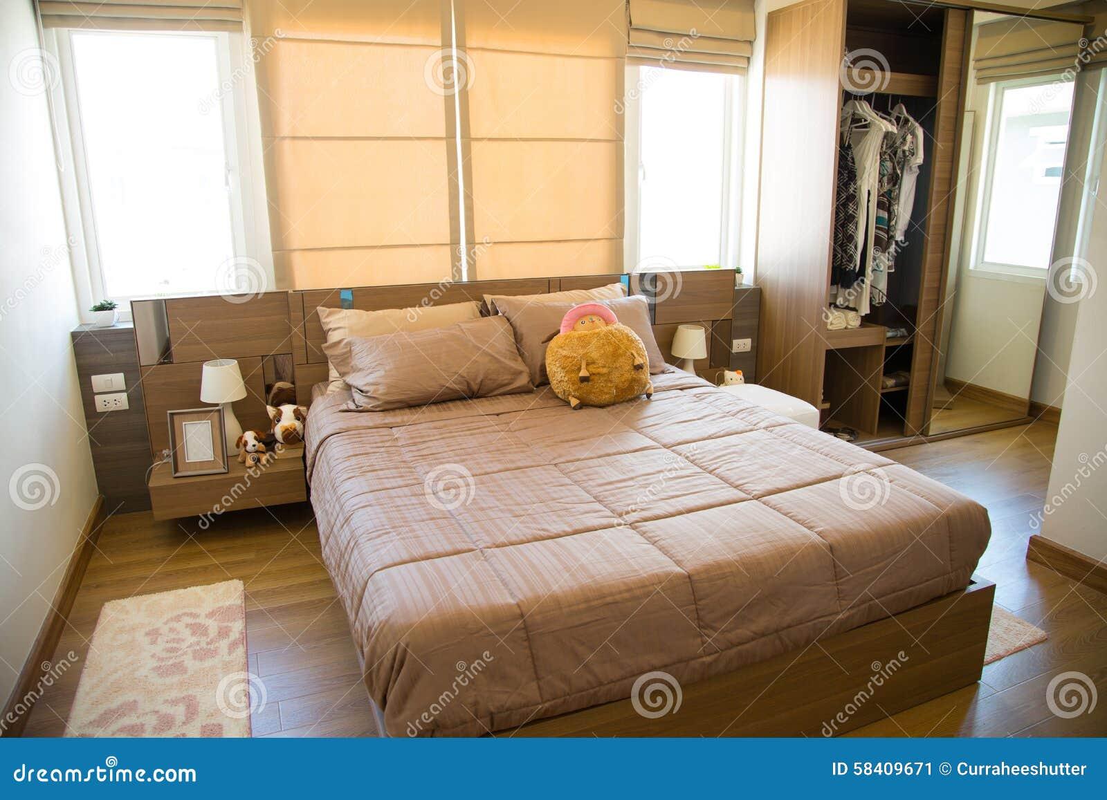 Decorazioni Camera Da Letto interno di stanza moderna o della stanza del letto, camera