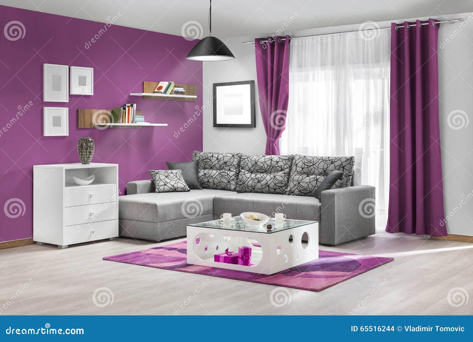 Interno di un salone moderno a colori fotografia stock for Interno moderno