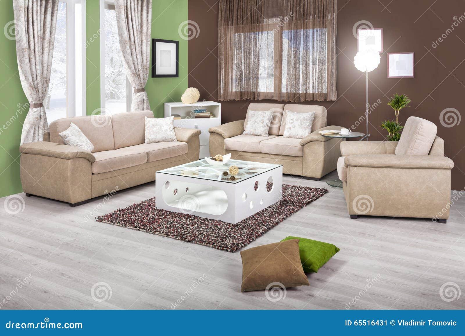 Interno di un salone moderno a colori immagine stock for Interno moderno