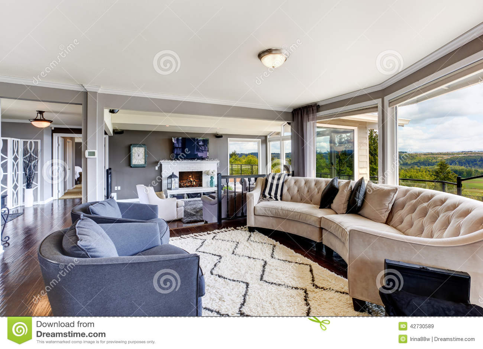 Interno elegante del salone in casa di lusso immagine for Zona 5 mobilia no club download
