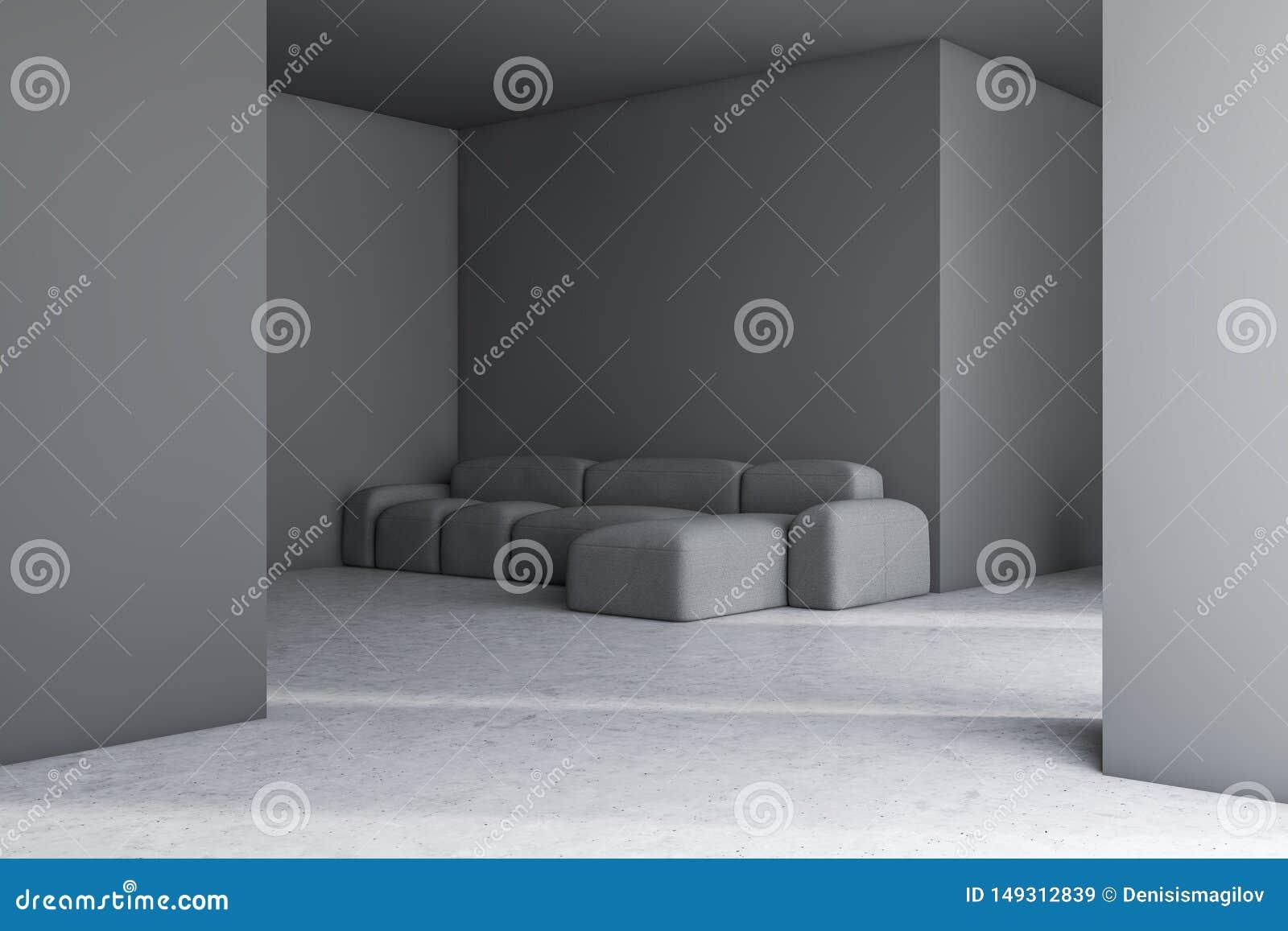 Interno grigio del salone con il sof?