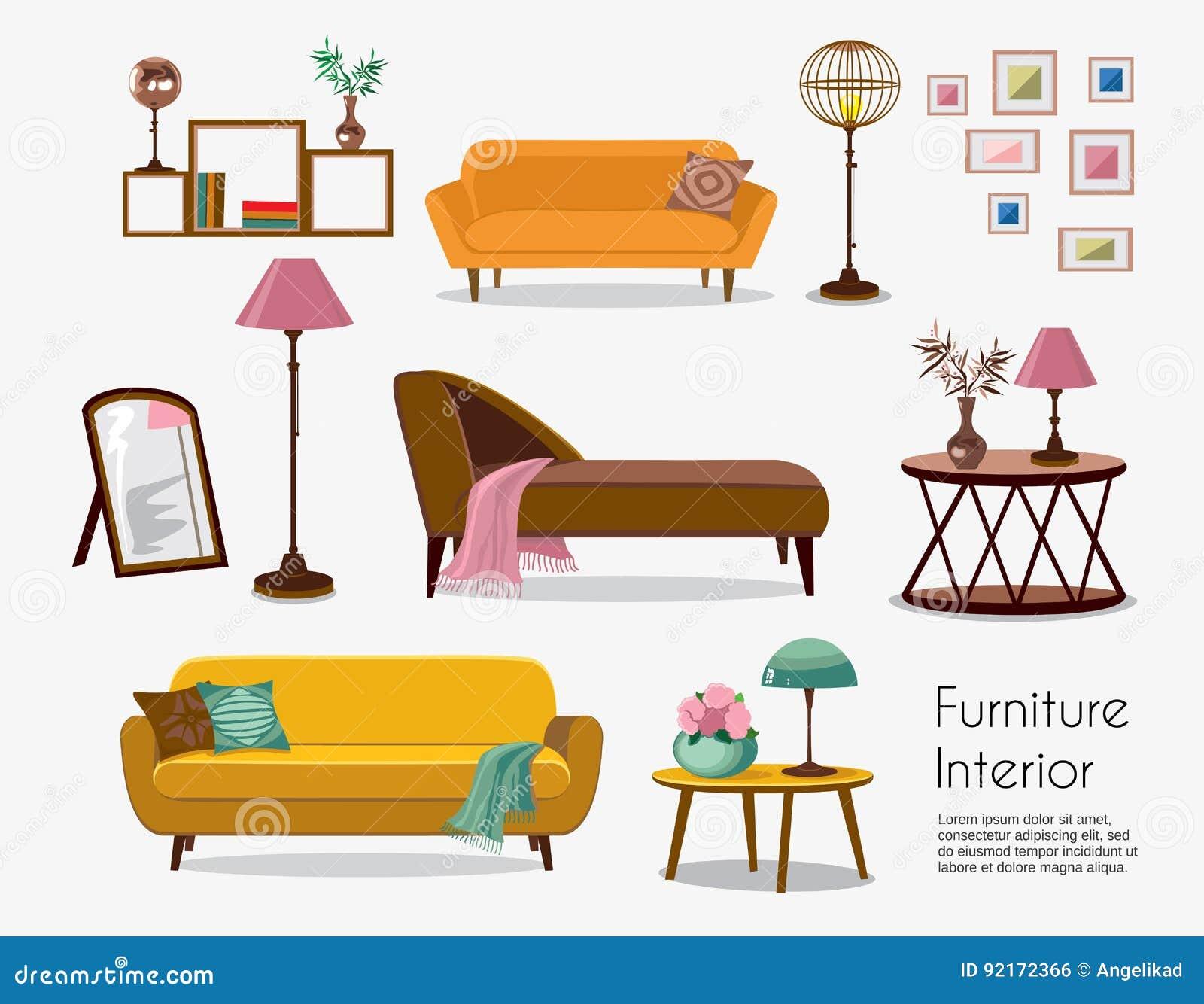 Interno Insiemi del sofà ed accessori domestici Progettazione della mobilia
