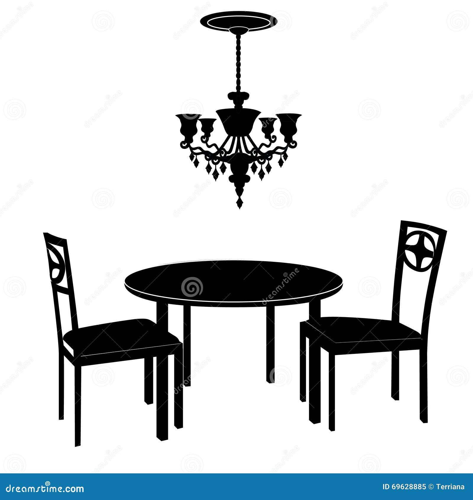 Interno interno di concetto della sala da pranzo della for Mobilia download