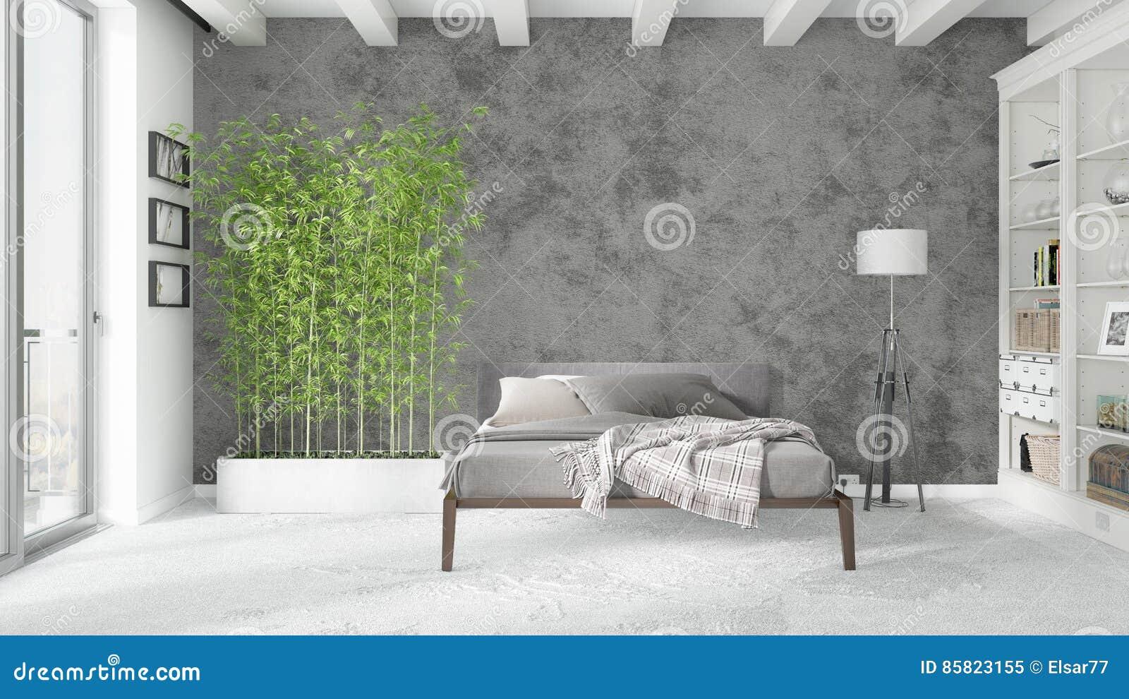 Interno luminoso moderno rappresentazione 3d illustrazione for Interno moderno