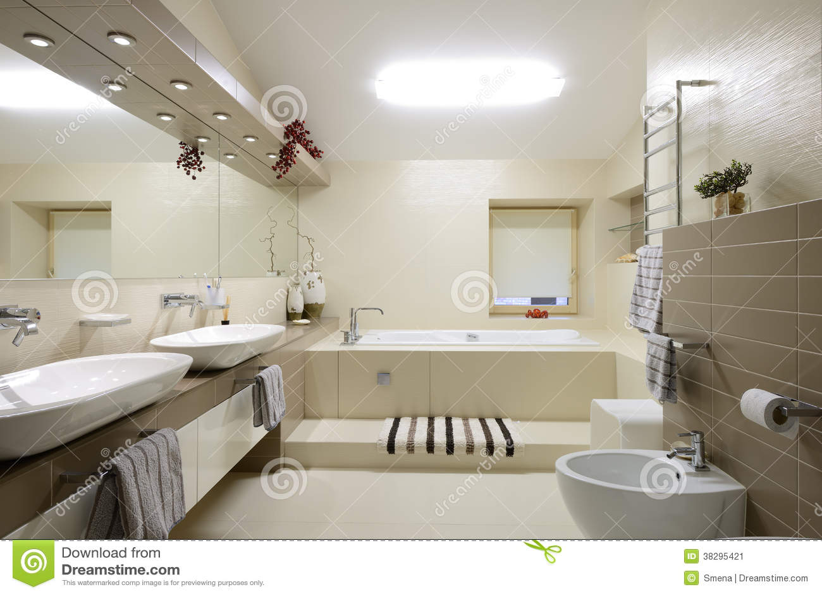Interno moderno bagno immagine stock immagine 38295421 for Interno moderno