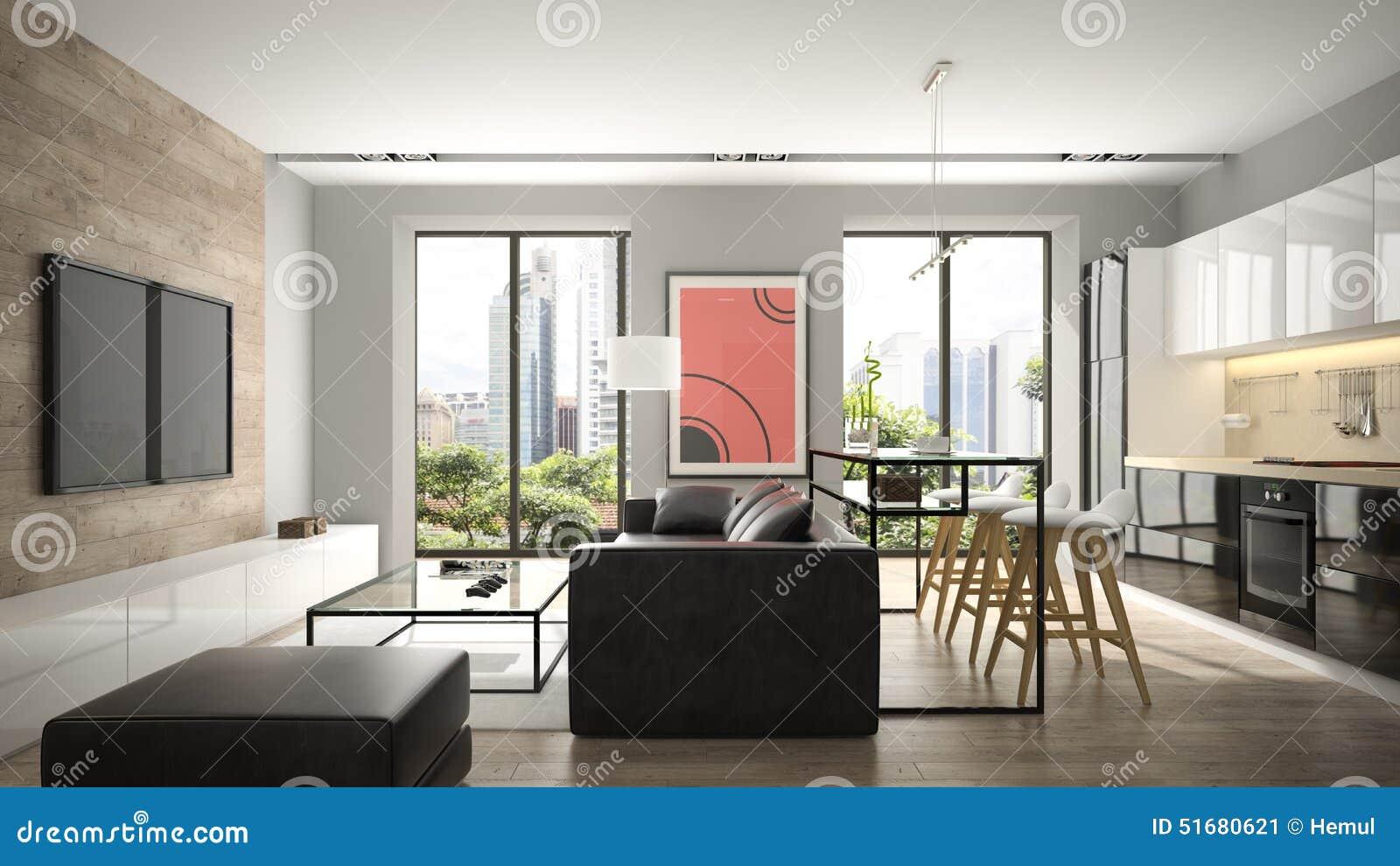Interno moderno con il pavimento di parquet illustrazione - Pavimento interno moderno ...