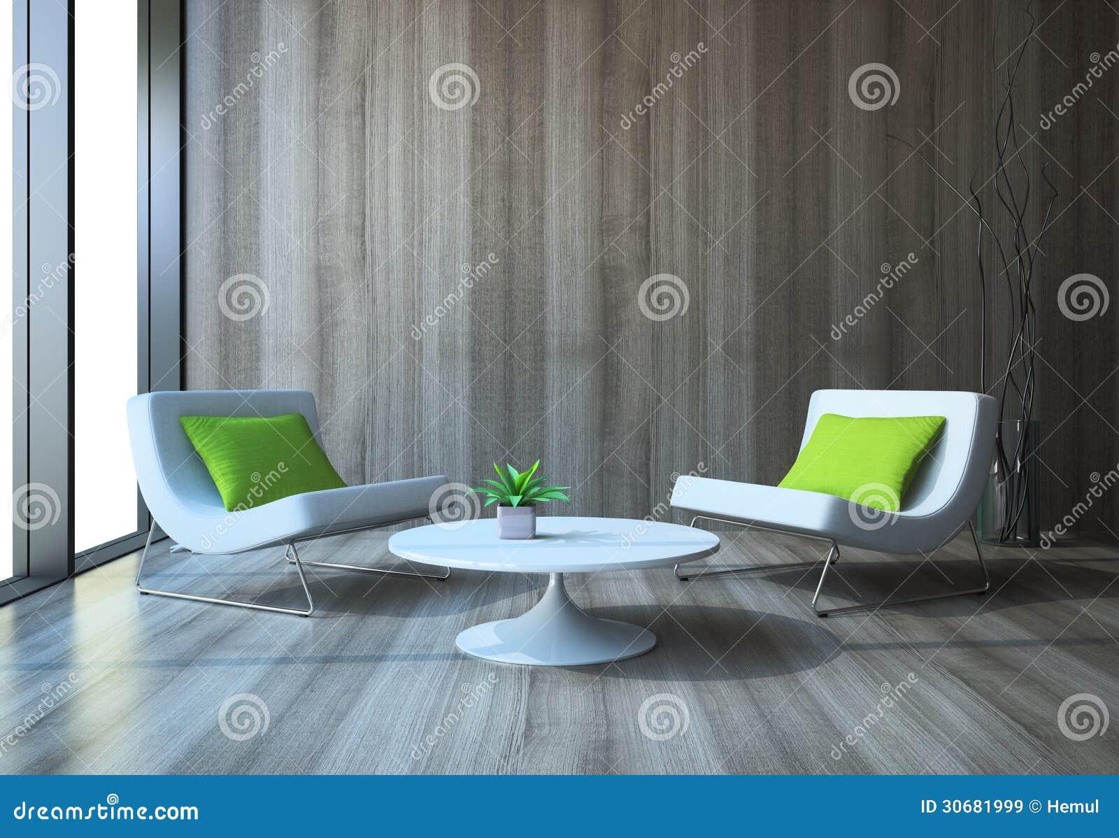 Interno moderno con le poltrone ed il tavolino da salotto for Mobilia arredamento 3d