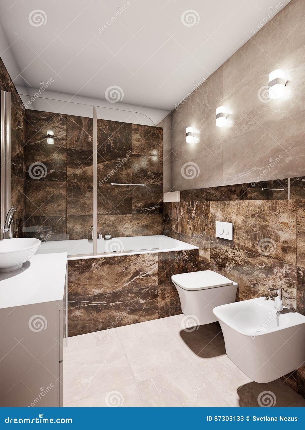 bagno moderno » rivestimenti bagno moderno beige e marrone ... - Bagni Moderni Beige E Marrone