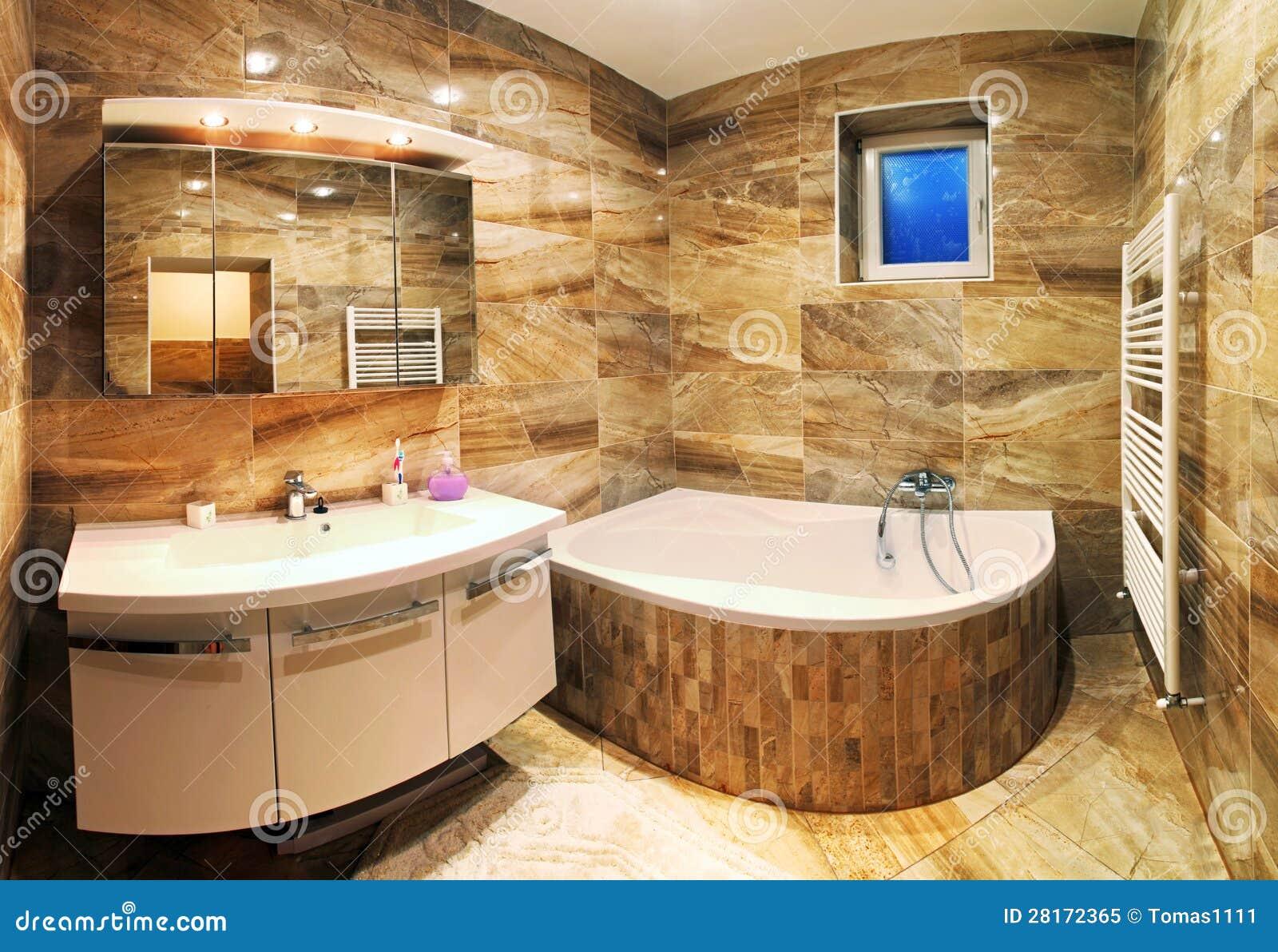 Interno moderno del bagno della casa fotografia stock for Bagno della casa moderna