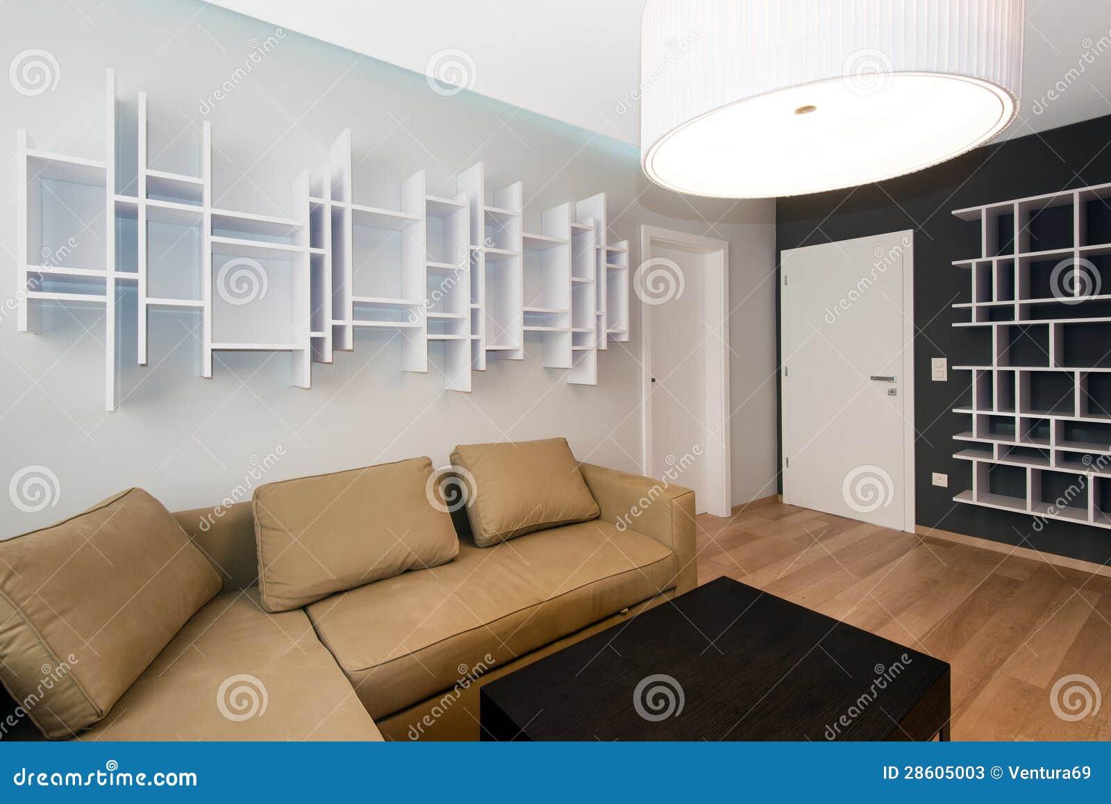 Interno moderno del salone immagine stock immagine di for Interno moderno