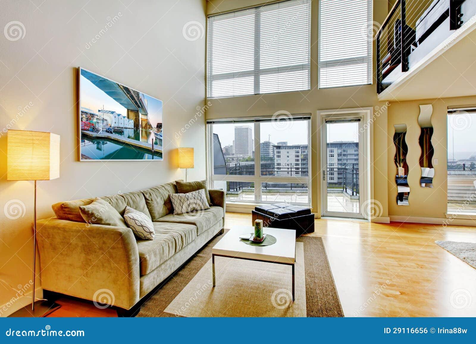 Interno moderno del salone dell 39 appartamento del for Interno moderno