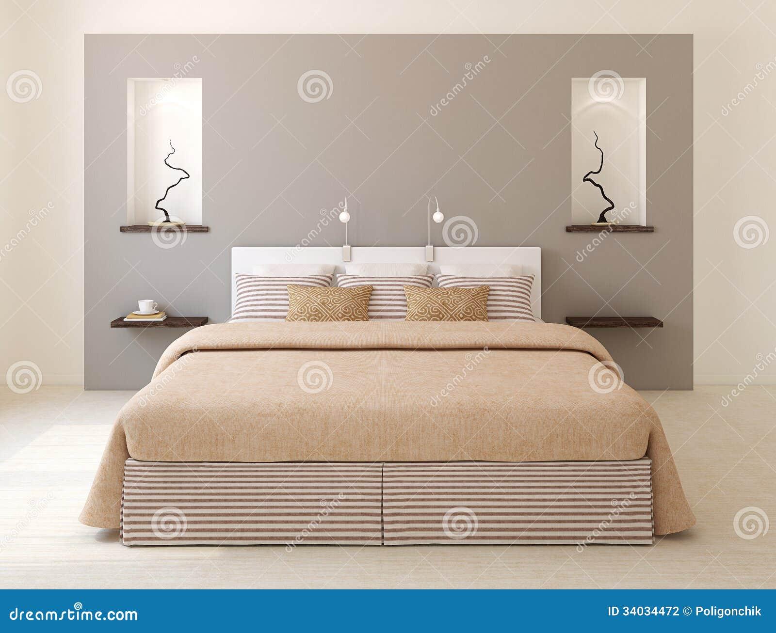 Interno moderno della camera da letto.