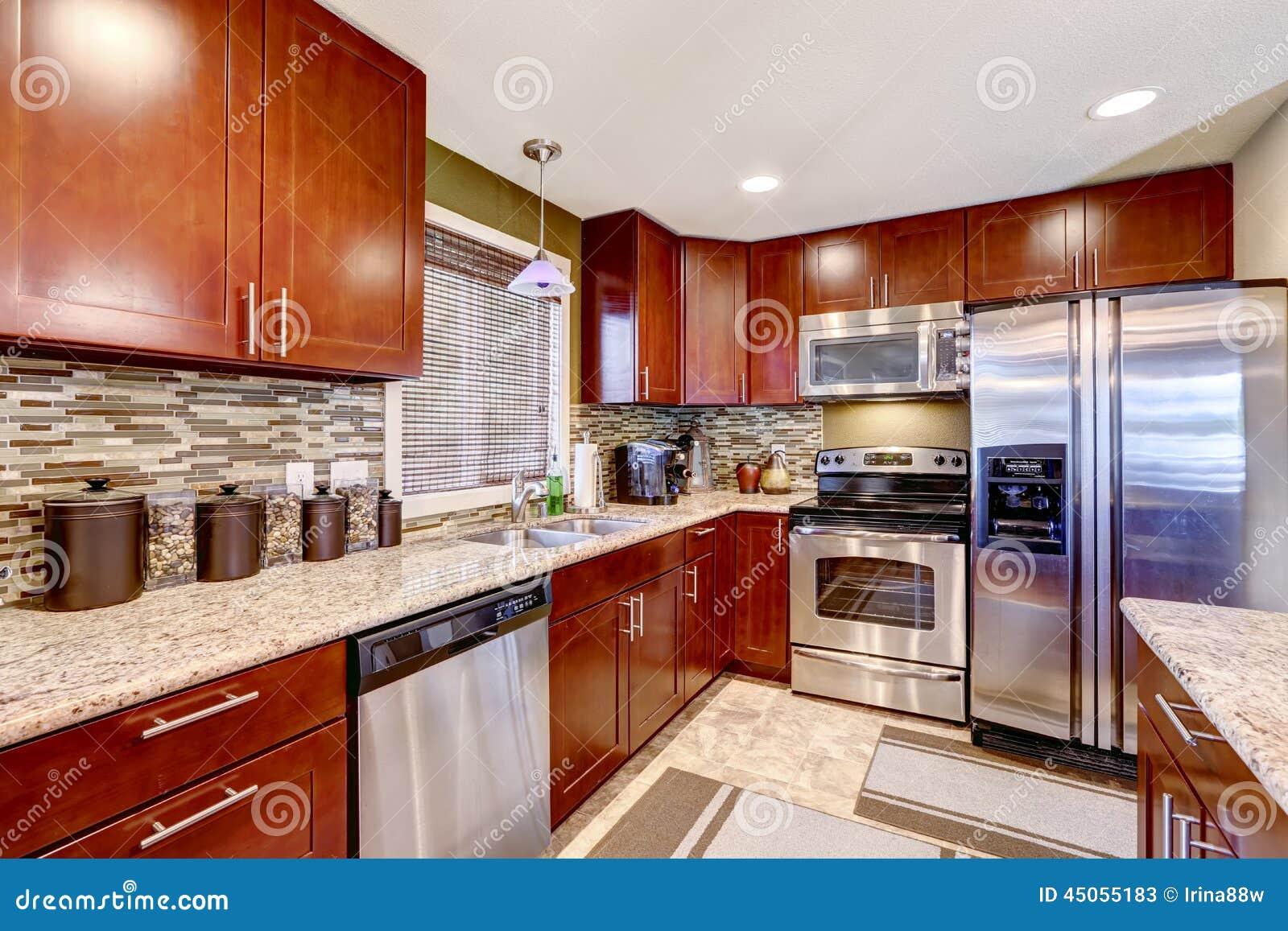Della Cucina Con La Disposizione Ed Il Granito Della Spruzzata Della  #7C2A13 1300 957 Ikea Tavolo Colazione A Letto