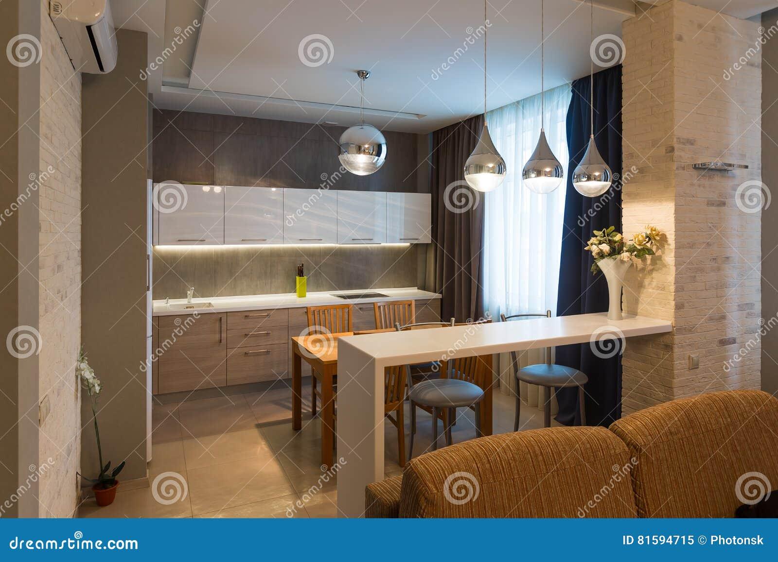 Interni Moderni Case Di Lusso : Interno moderno della cucina nella nuova casa di lusso