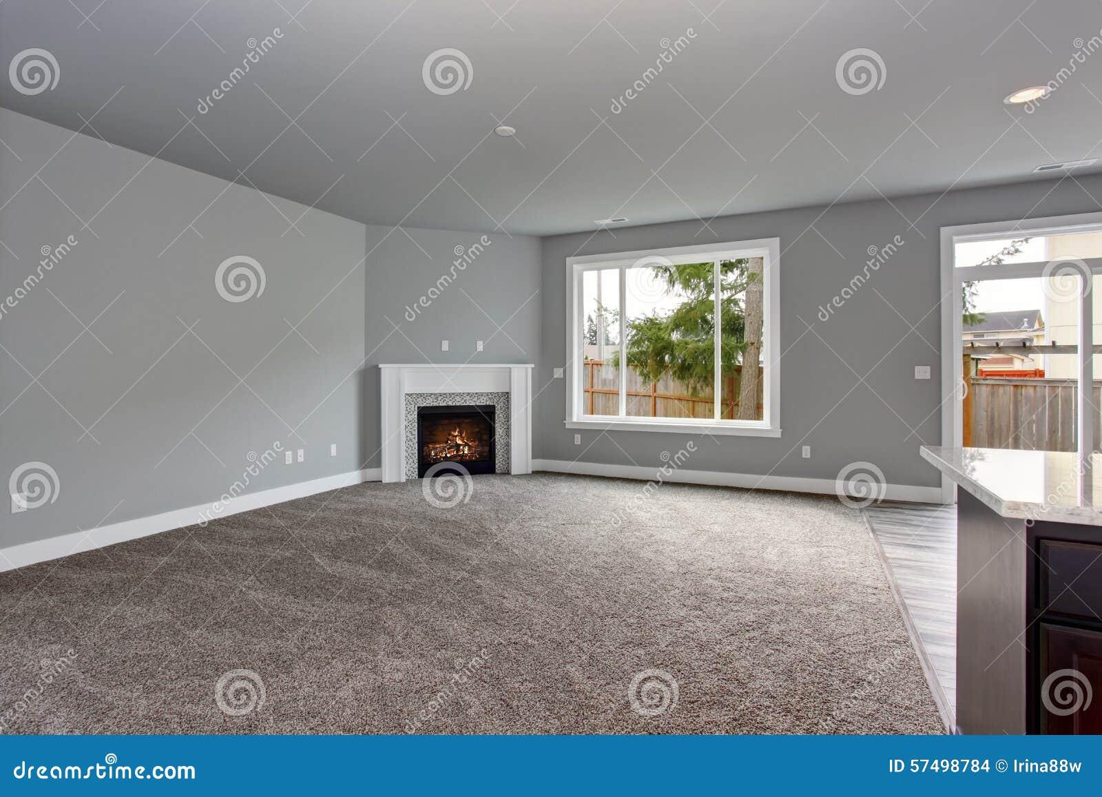 Interni Casa Grigio : Interno moderno e completamente grigio della casa fotografia stock