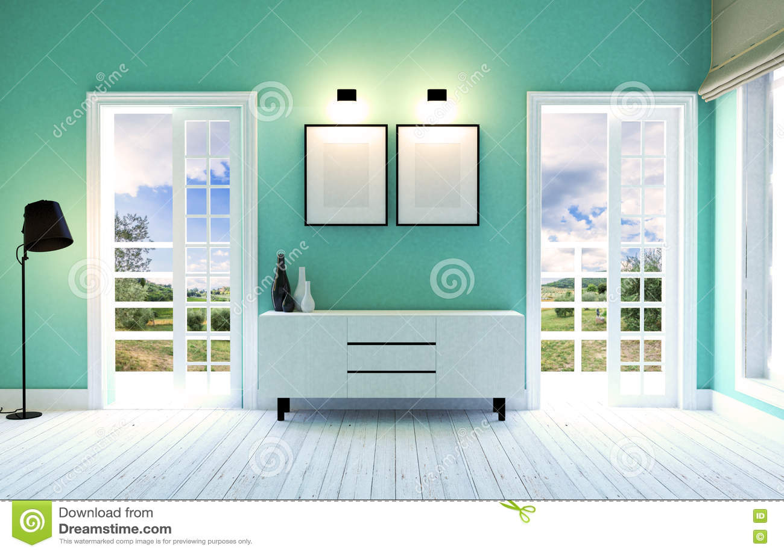 Interno moderno e contemporaneo del salone con il for Pavimento interno moderno