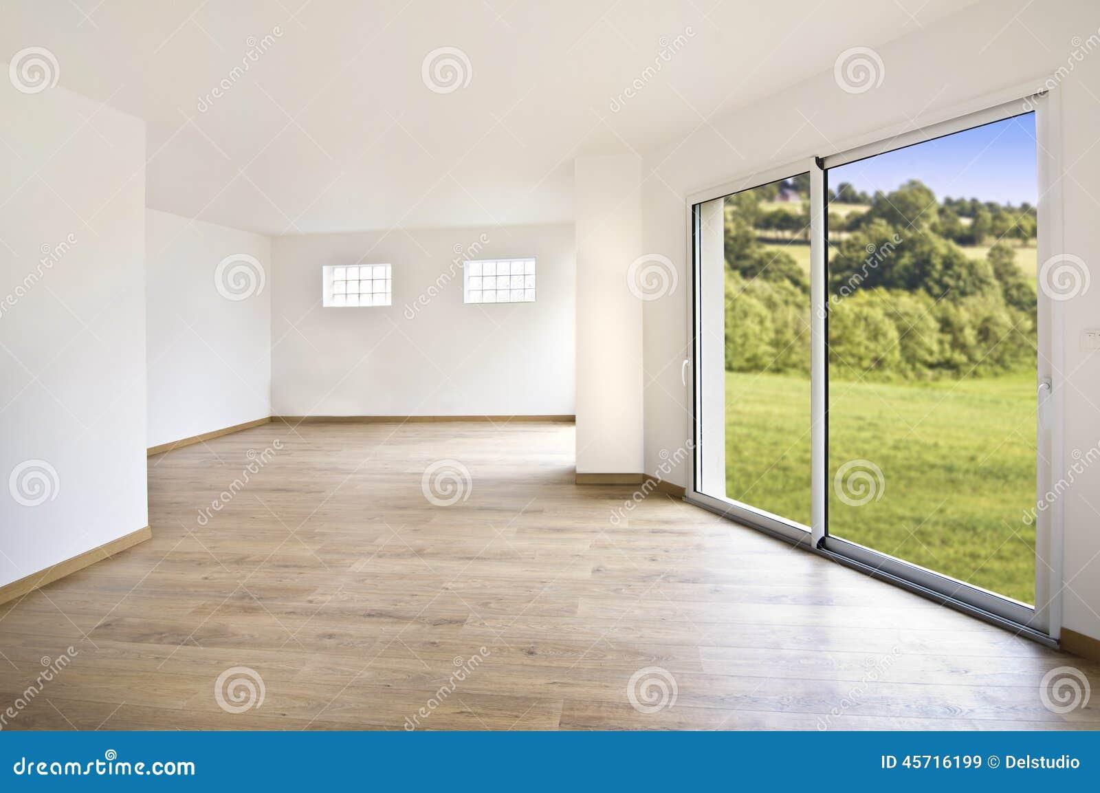 Interno moderno vuoto della casa immagine stock immagine for Interno moderno