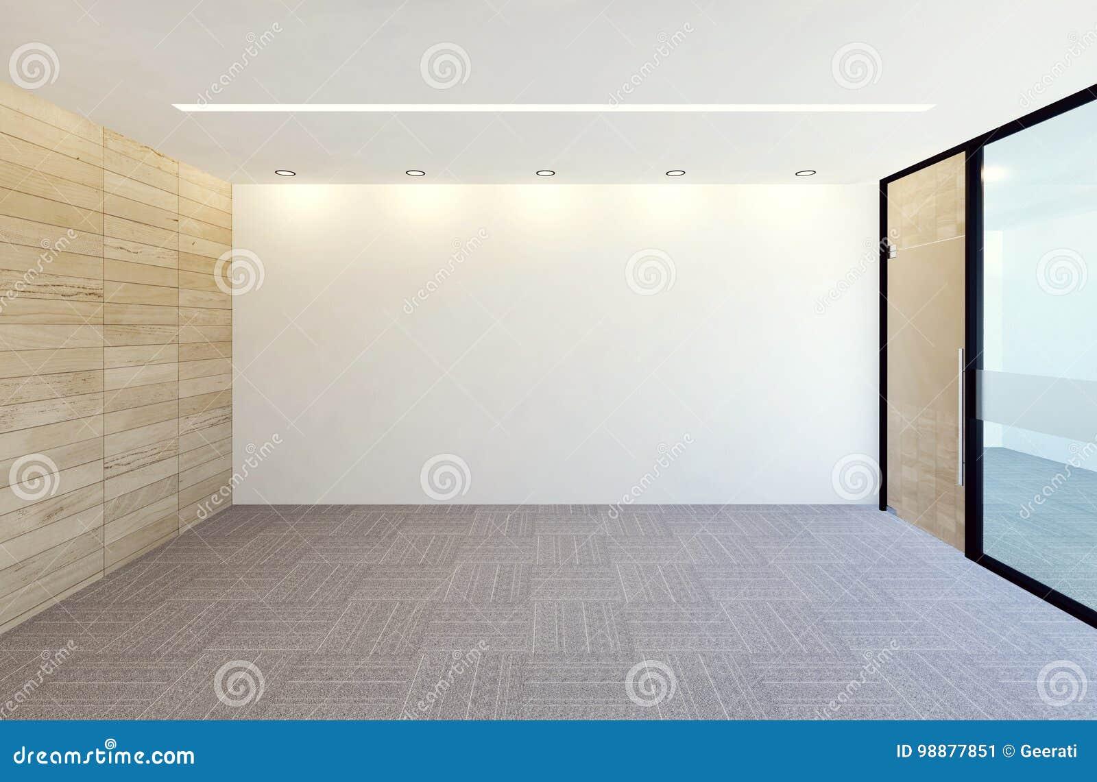 Interno moderno vuoto della stanza dell 39 ufficio for Interno moderno