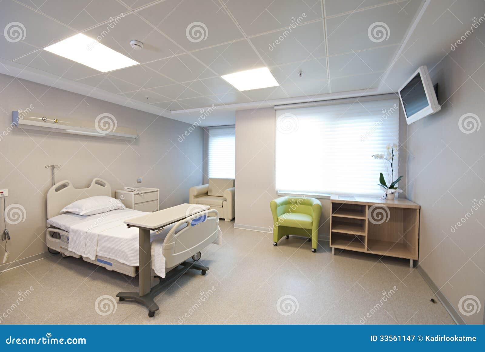 Interno privato della stanza di ospedale