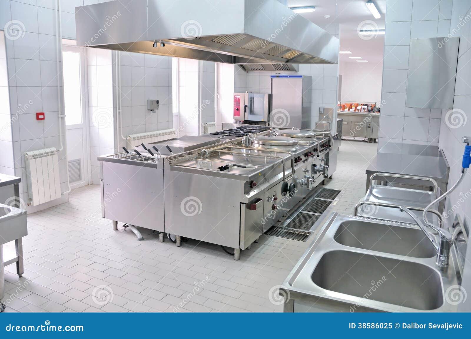 Interno professionale della cucina