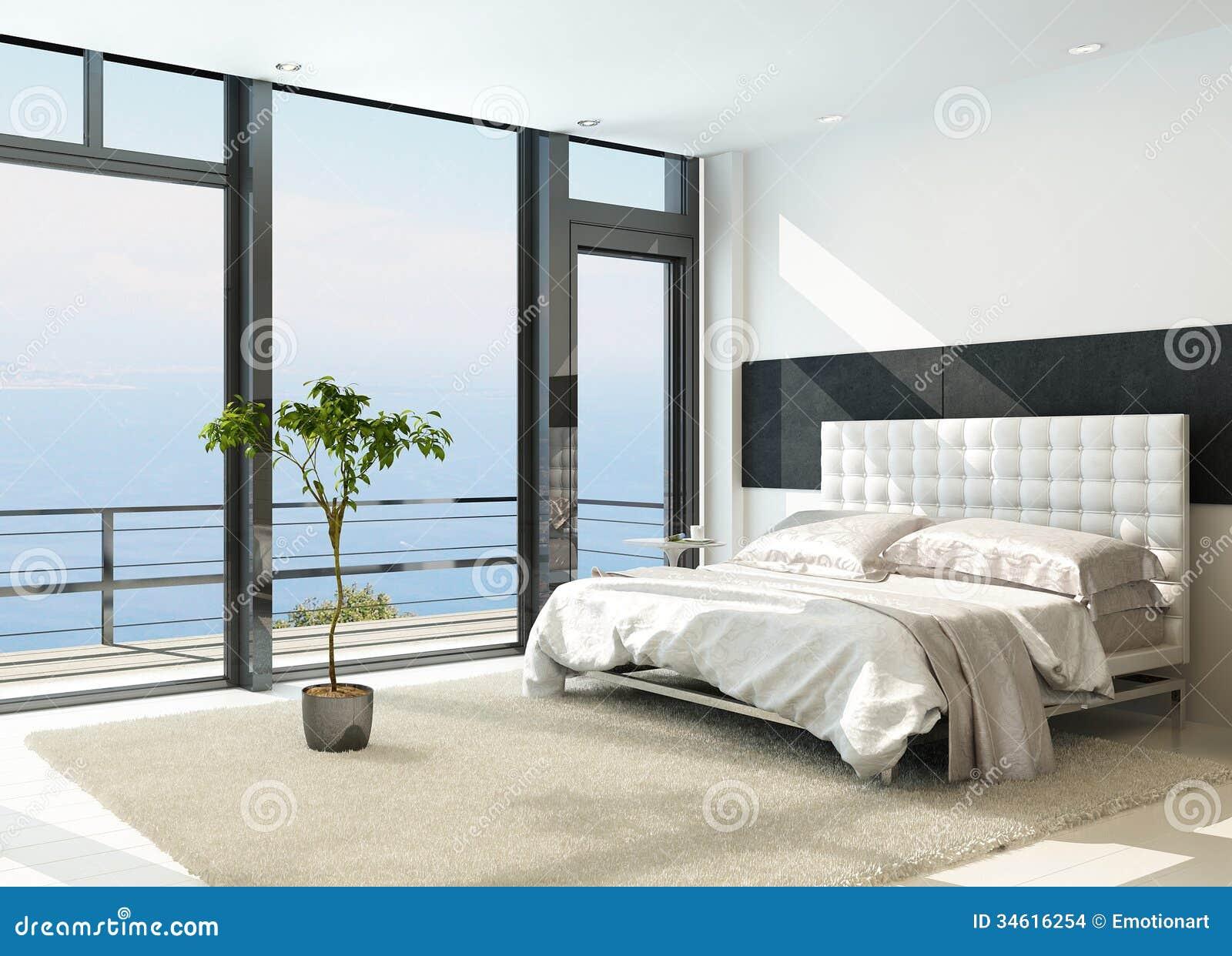 Interno soleggiato moderno contemporaneo della camera da for Interno moderno