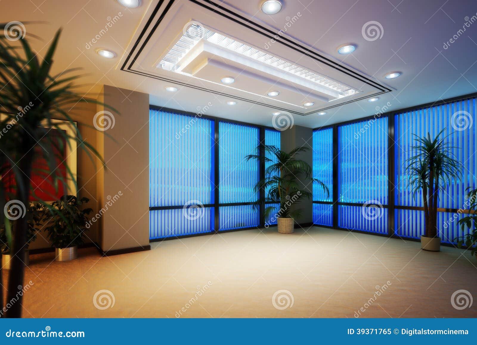 Interno vuoto del highrise dell ufficio di affari o della stanza dell appartamento