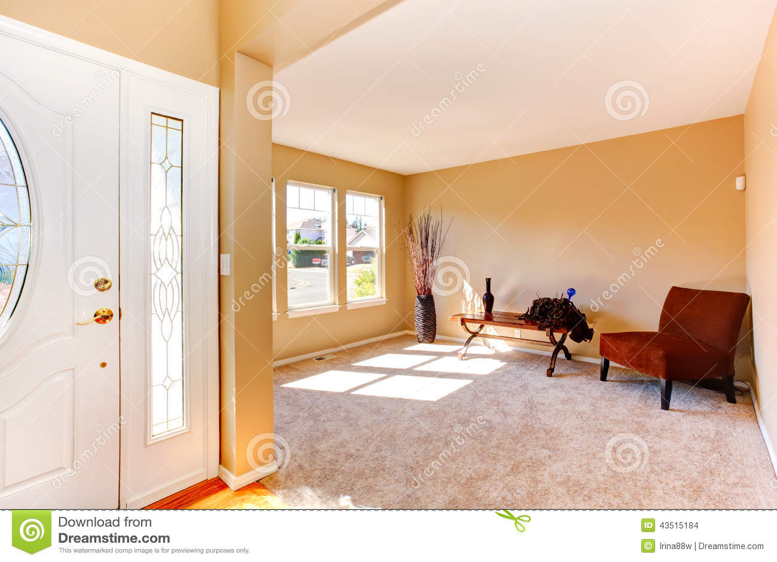 Interno vuoto della casa corridoio e salone dell 39 entrata for Interno della casa