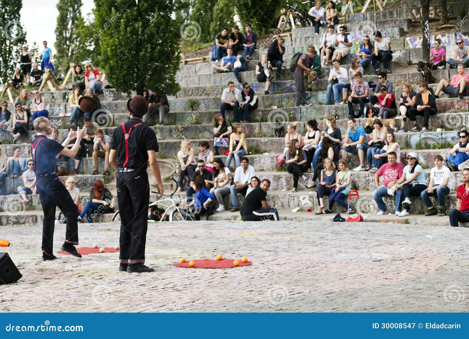 Interprètes de rue à l amphithéâtre de Mauerpark