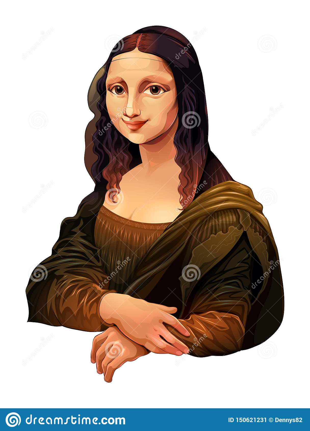 Interpretacja Mona Lisa, maluje Leonardo Da Vinci