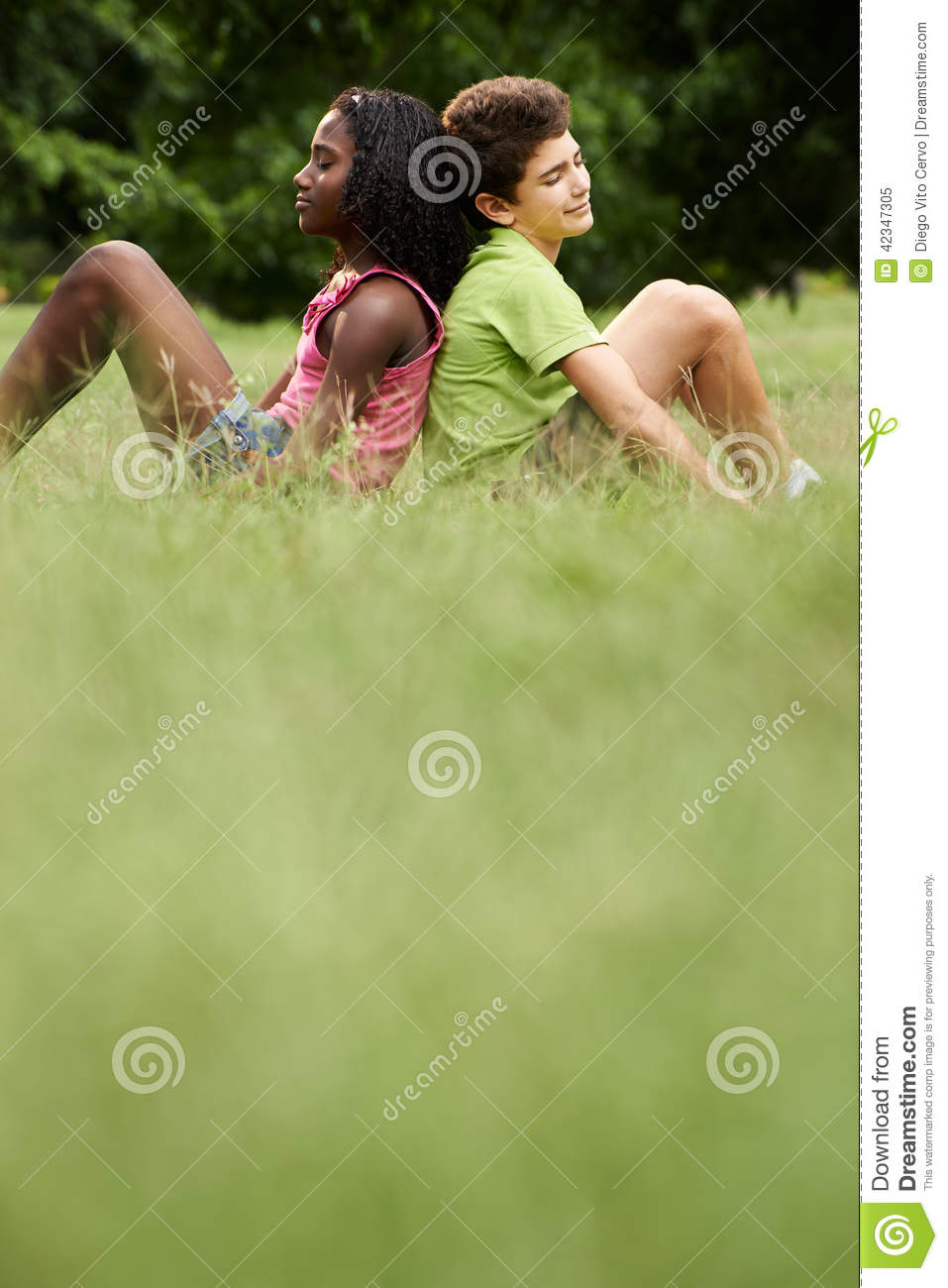 Interracial Couple Of Black And White Kids In Love Stock Image - Image Of Hispanic -6727