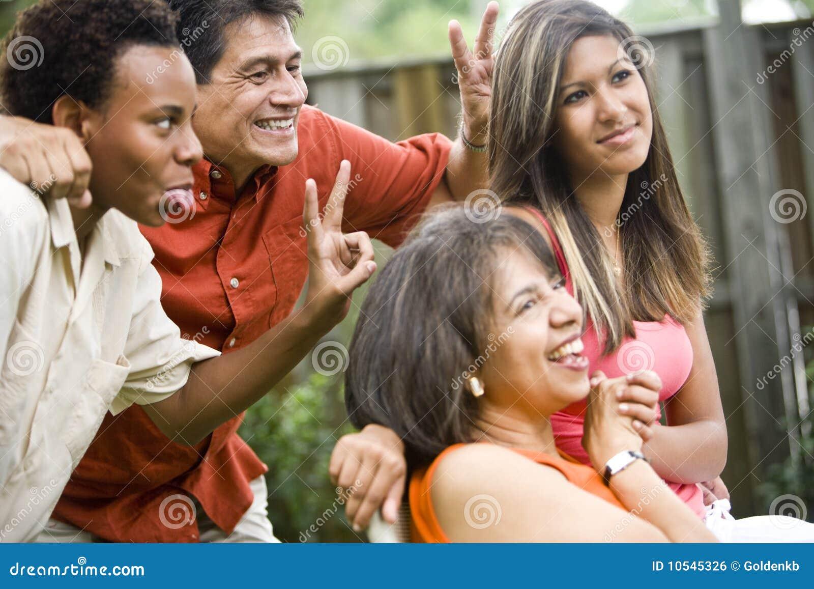 Interracial familie