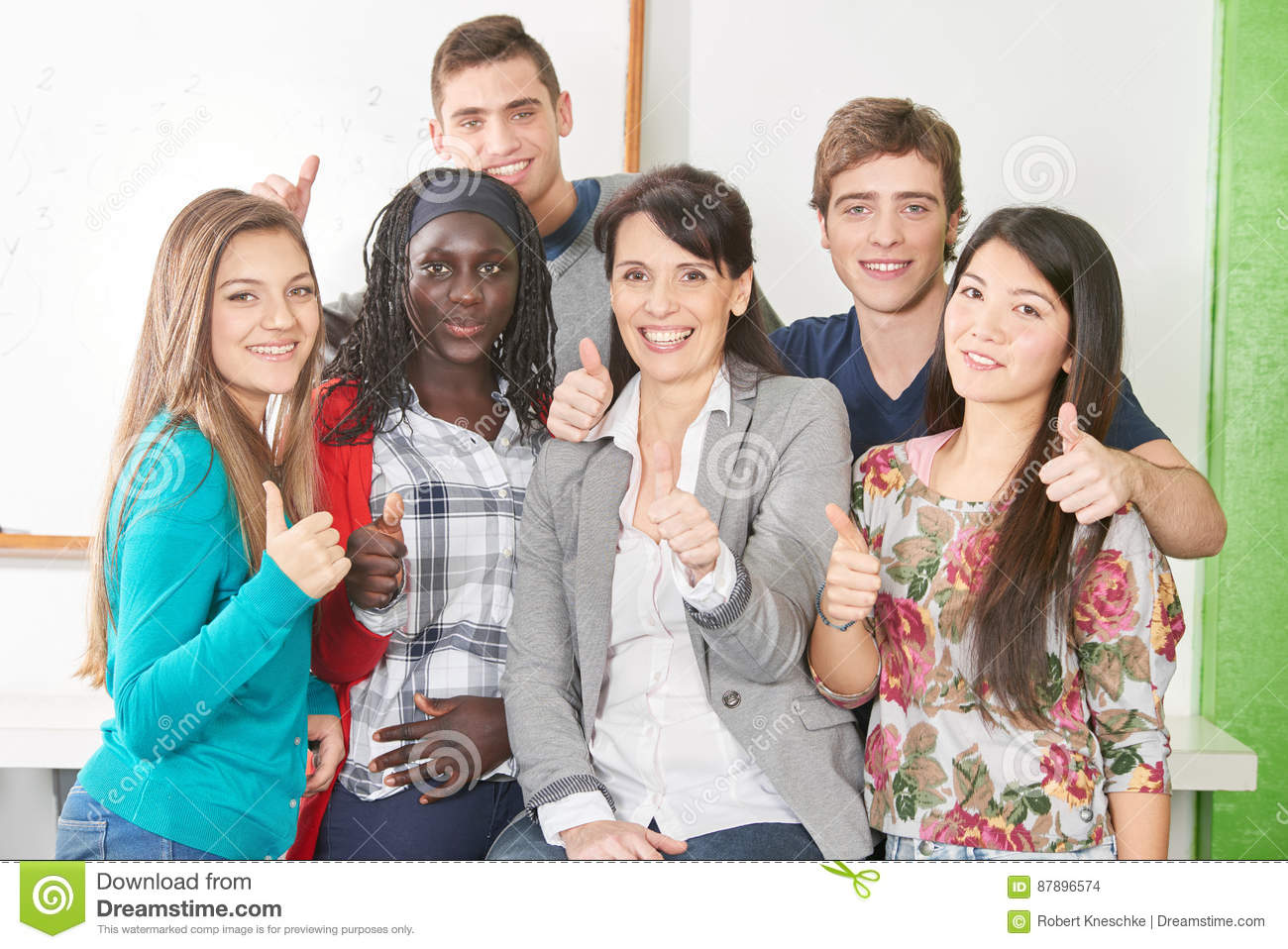Adult interracial group