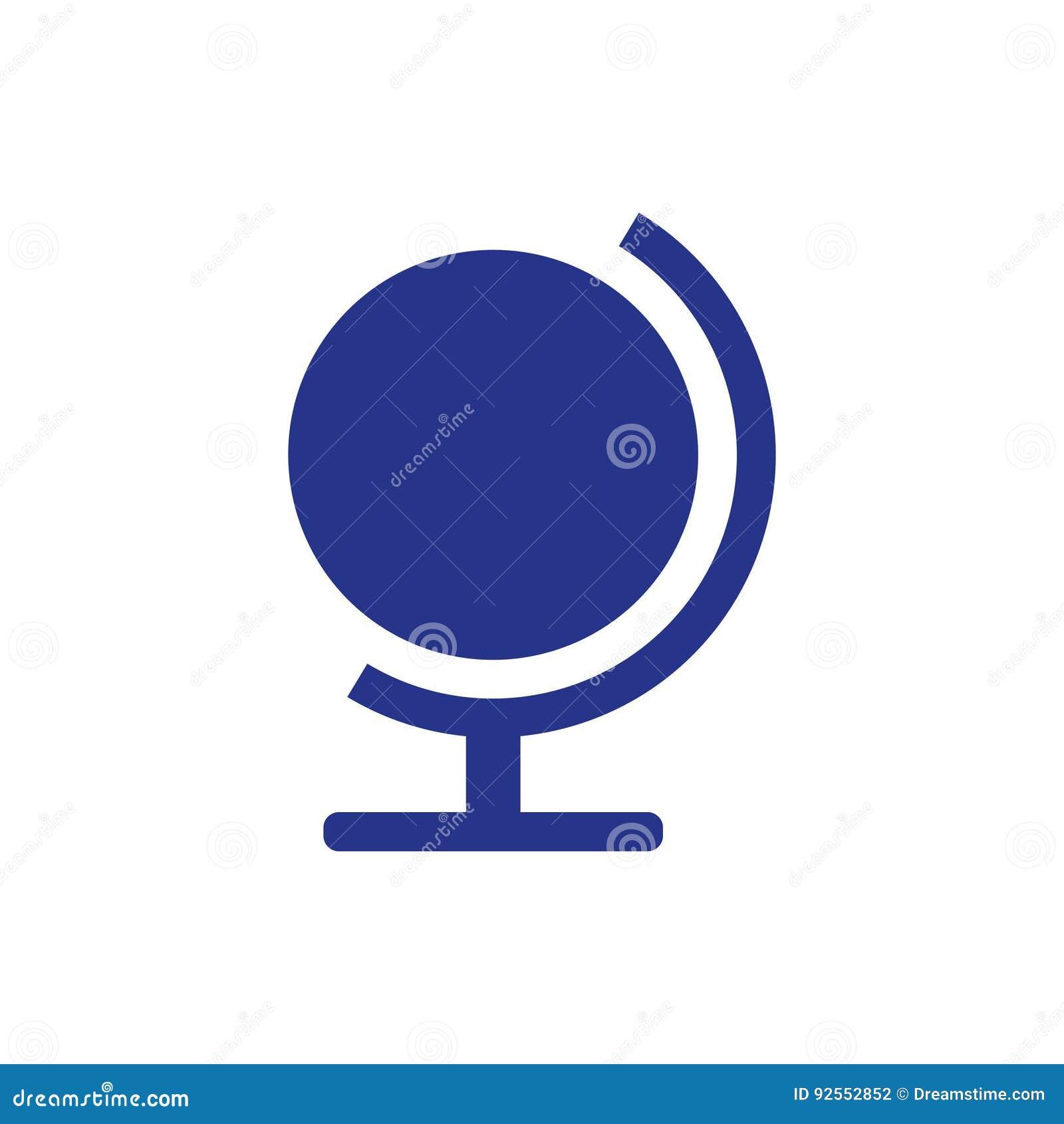 Interri lo stile piano di progettazione dell illustrazione di vettore delle azione dell icona del globo