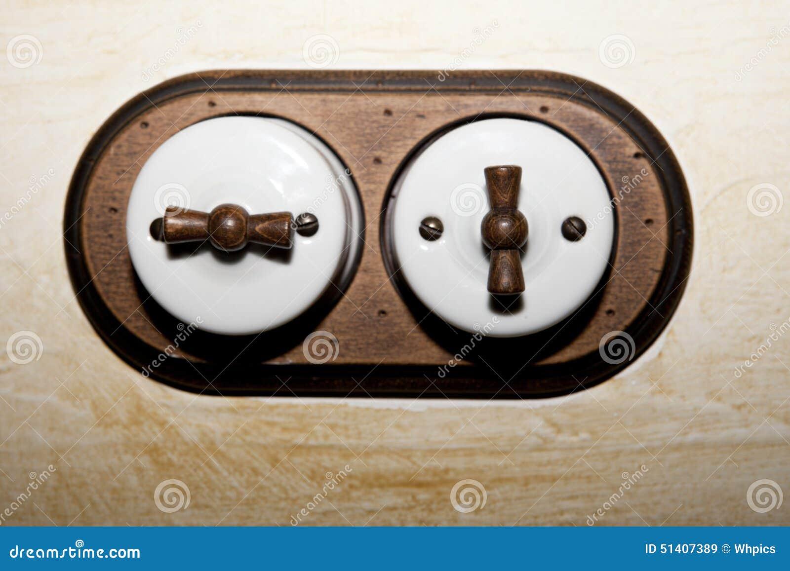 Interrupteur de lampe antique de double de style photo - Interrupteur design pas cher ...