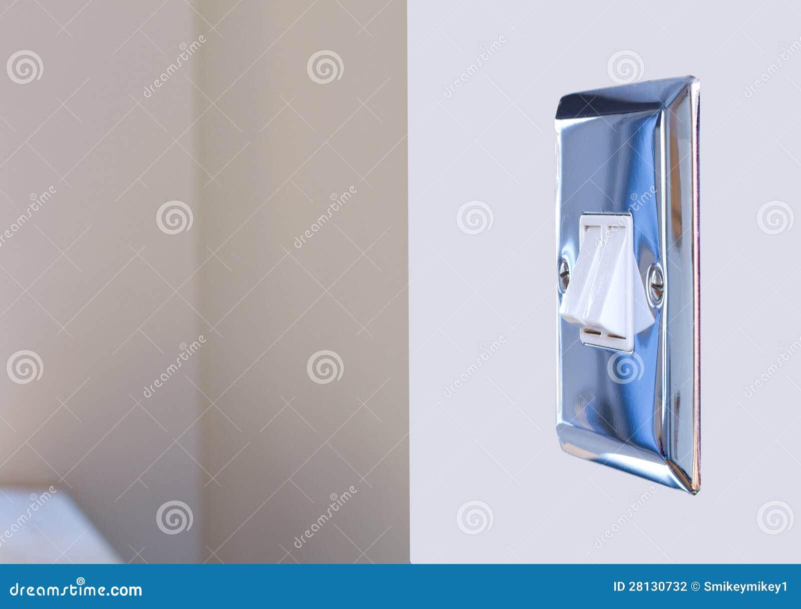 interrupteur de lampe de chrome dans une cuisine moderne photographie stock image 28130732. Black Bedroom Furniture Sets. Home Design Ideas