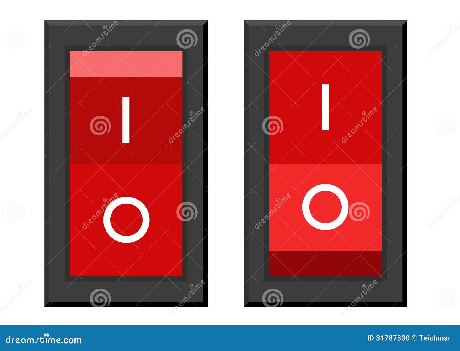 interrupteur on off illustration stock illustration du. Black Bedroom Furniture Sets. Home Design Ideas