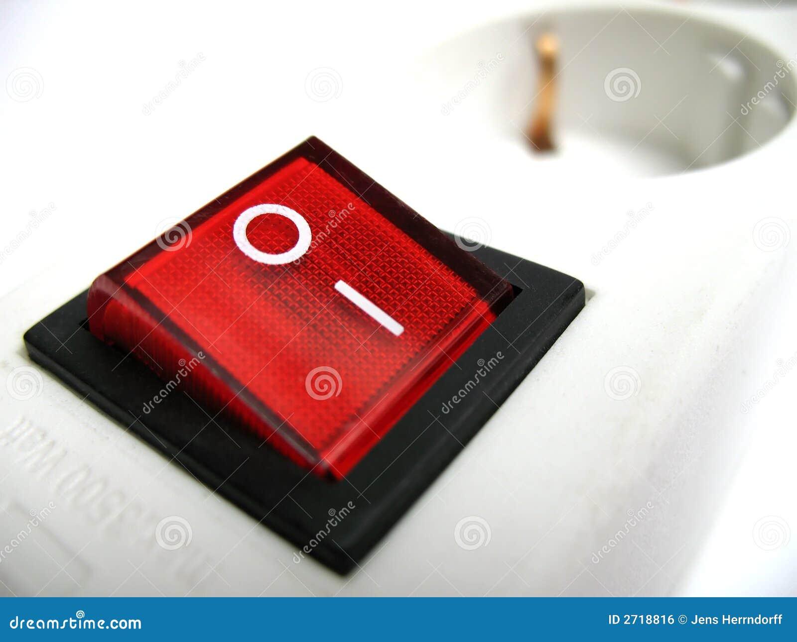 interrupteur rouge image libre de droits image 2718816. Black Bedroom Furniture Sets. Home Design Ideas