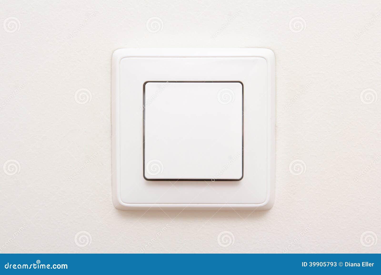 Interruptor da luz moderno na parede branca imagem de for Interruptor regulador de luz