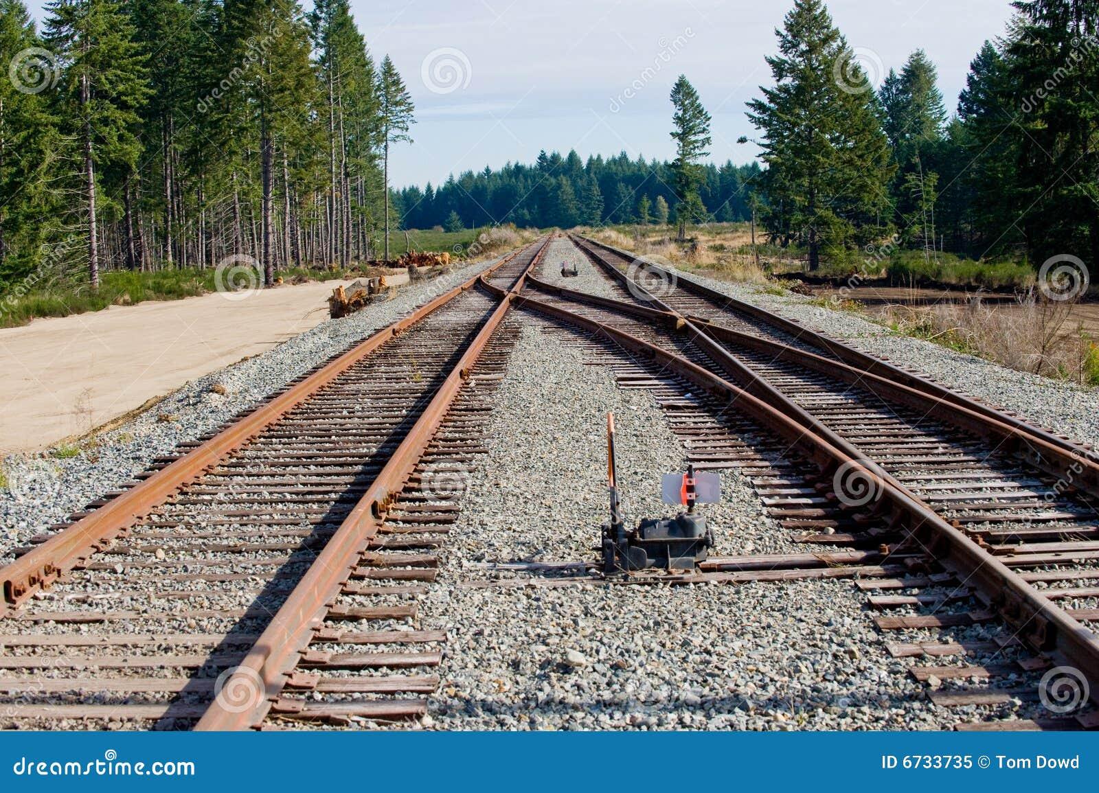 Interruptor das trilhas de estrada de ferro