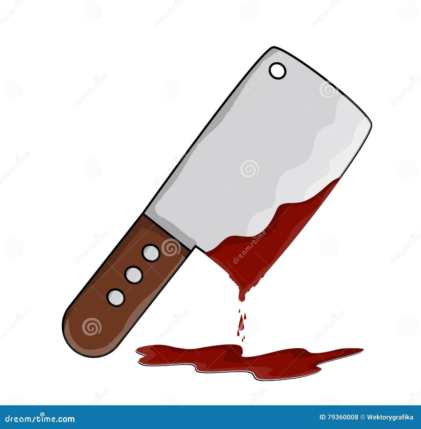 Interruptor del carnicero de la cocina con diseño del icono del símbolo del vector de la sangre