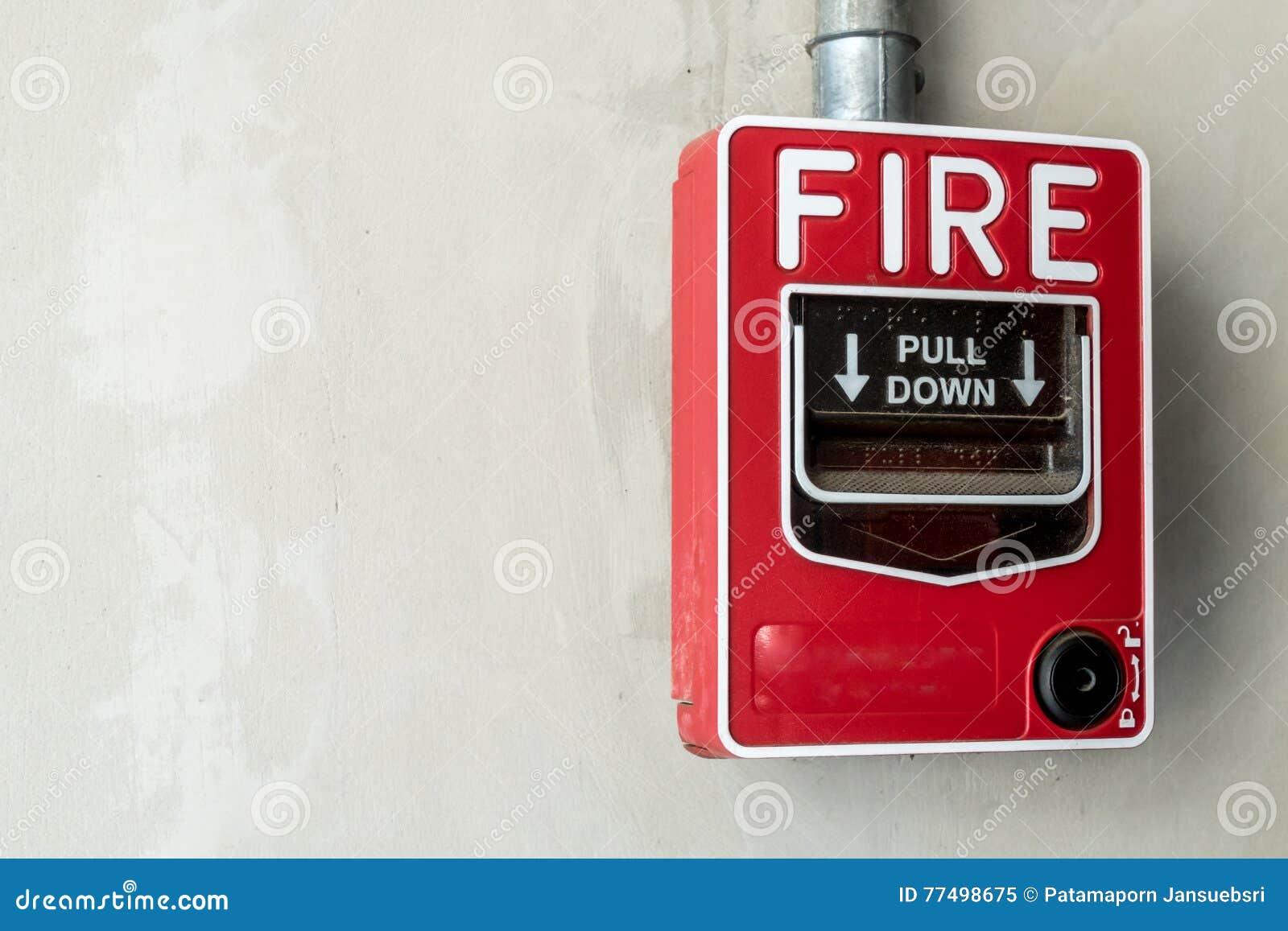 Interruptor do fogo na parede