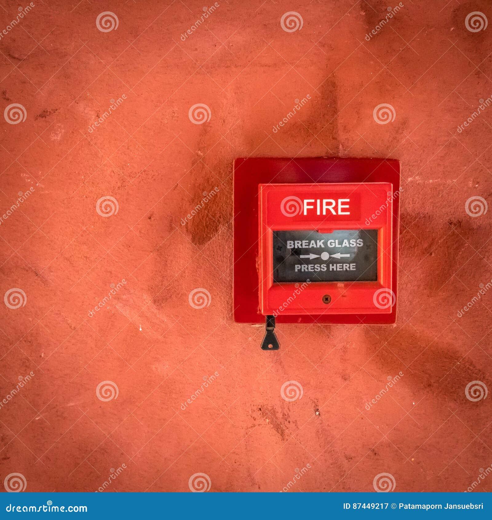 Interruptor do fogo vermelho