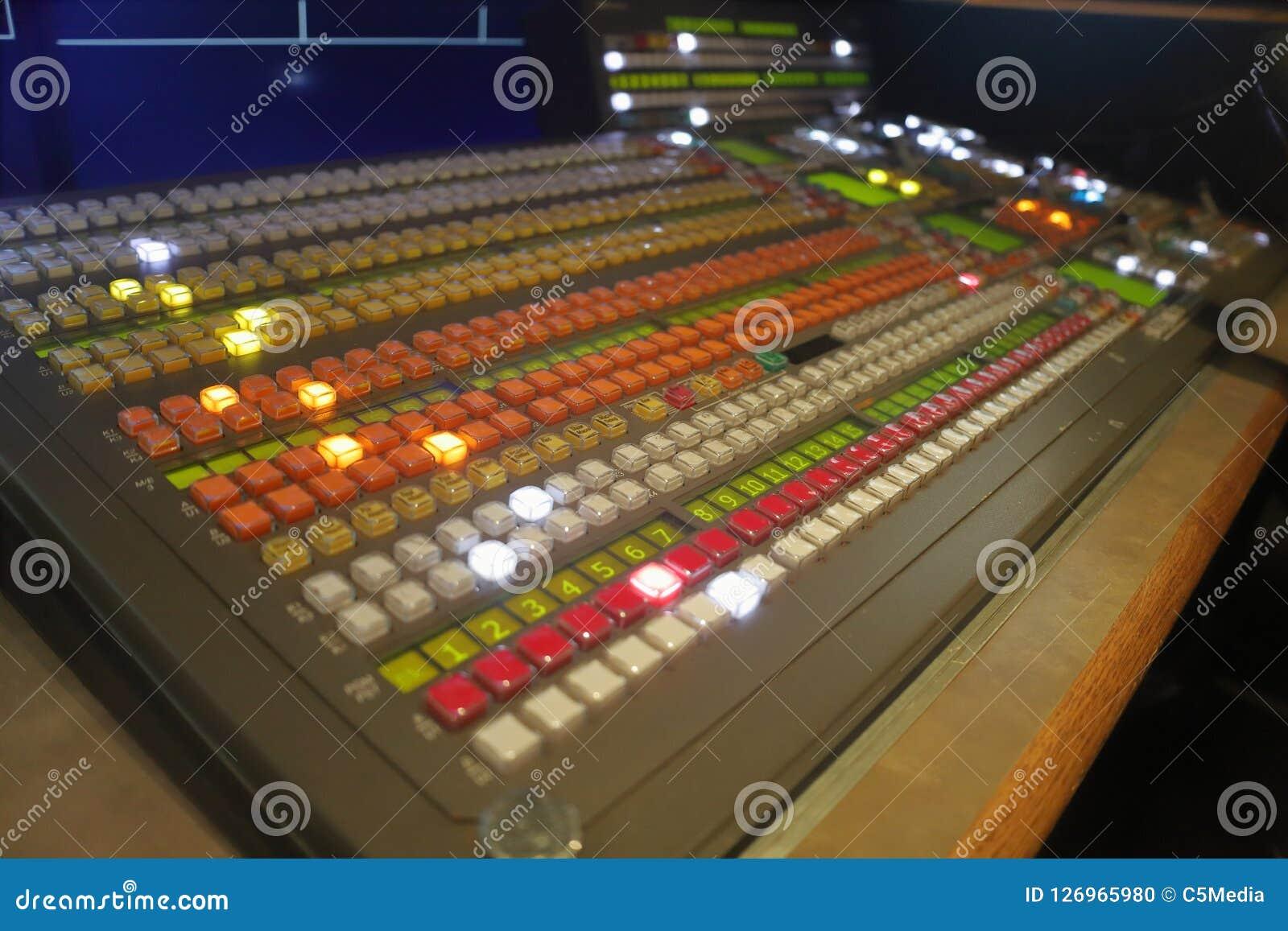 Interruptor video de la producción de la difusión, mezclador de la visión