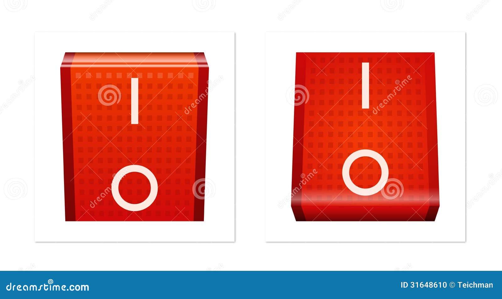 interruttore acceso spento illustrazione di stock. Black Bedroom Furniture Sets. Home Design Ideas