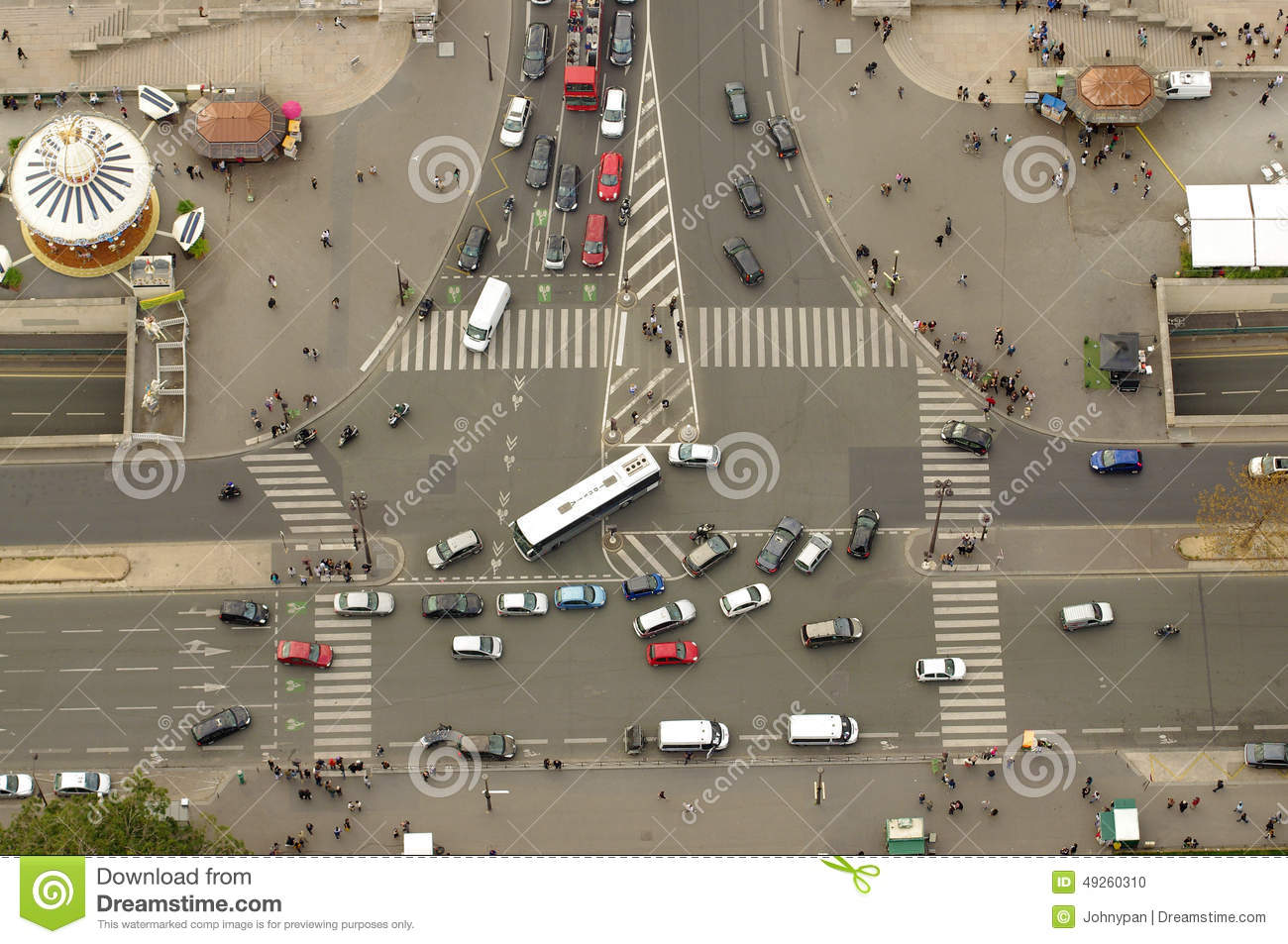 intersection in paris france editorial image image of aerial
