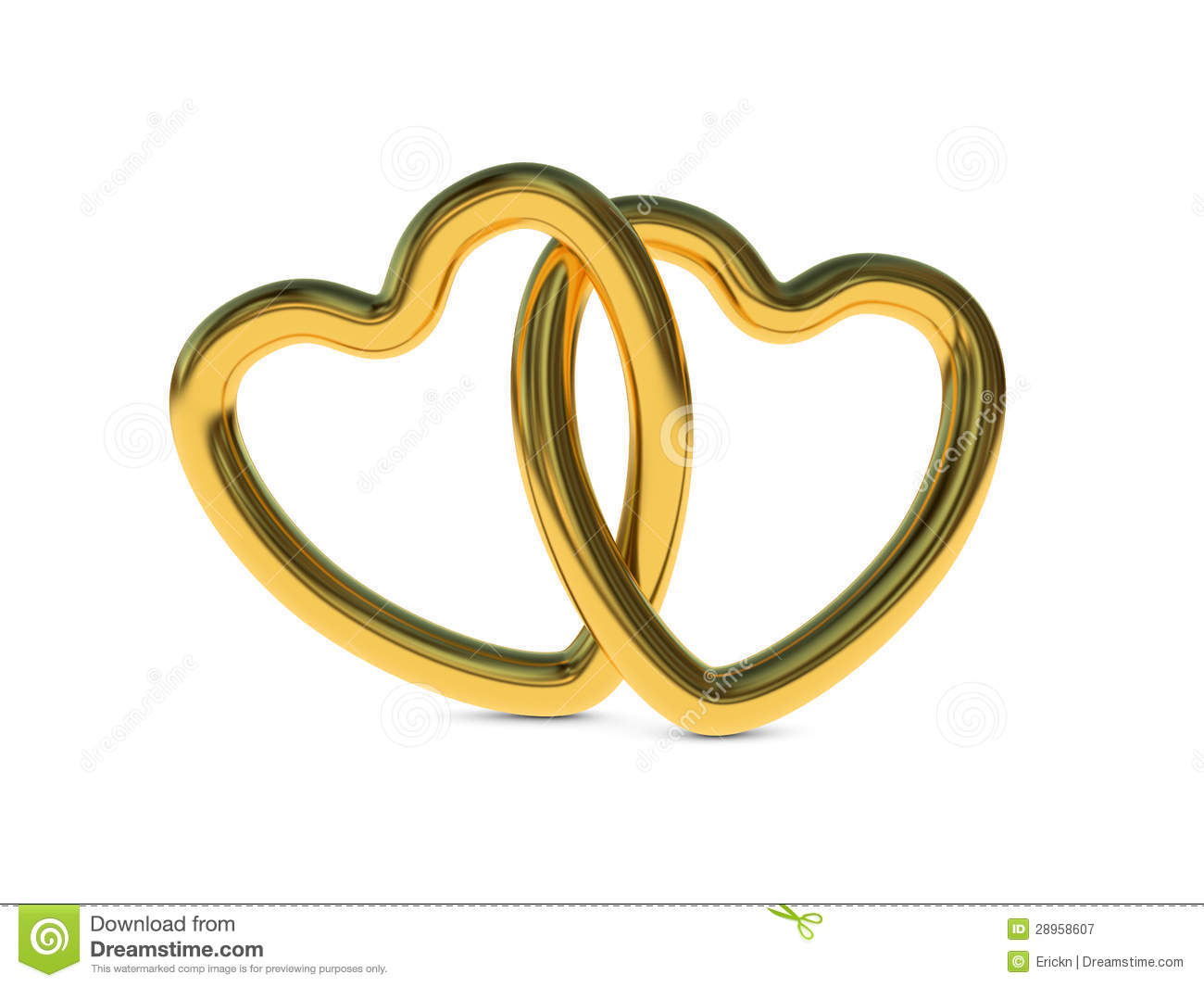 Intertwined Gold Heart Rings Royalty Free Stock Photography - Image ...